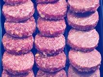 Hamburguesa assort on counter Royalty Free Stock Photo