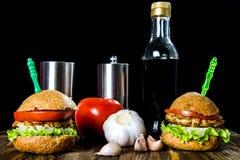 Hamburguesa con el pollo Imagen de archivo libre de regalías