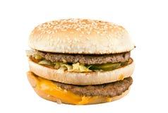 Hamburguesa con queso y carne foto de archivo libre de regalías