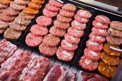 Hamburguesa on counter Stock Image