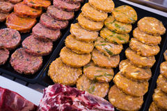 Hamburguesa on counter Stock Images
