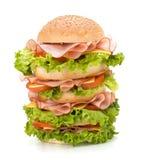 Hamburguesa de Junk Food imagenes de archivo