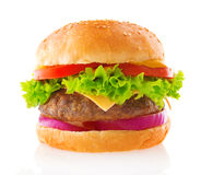 Hamburguesa de la carne de vaca Imagen de archivo libre de regalías