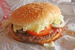 Hamburguesa de la comida rápida Foto de archivo libre de regalías