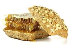 Hamburguesa de la miel de peine Foto de archivo