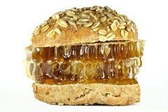 Hamburguesa de la miel de peine Imagenes de archivo