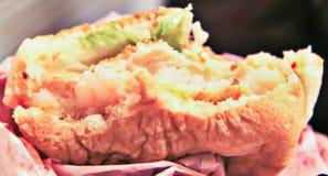Hamburguesa del camarón foto de archivo