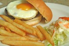 Hamburguesa del huevo Imagenes de archivo