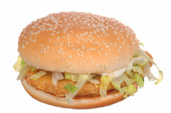 Hamburguesa del pollo Imagenes de archivo
