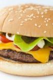 Hamburguesa del queso Imagen de archivo libre de regalías