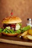 Hamburguesa del queso Imagen de archivo