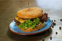 Hamburguesa del vegano Fotografía de archivo libre de regalías