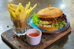 Hamburguesa del vegano Foto de archivo libre de regalías