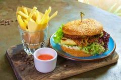 Hamburguesa del vegano Imagenes de archivo
