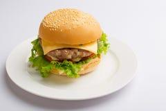 Hamburguesa hecha en casa deliciosa Fotos de archivo libres de regalías