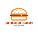 Hamburguesa Logo Text Fotos de archivo
