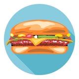 Hamburguesa sabrosa del queso del vector de Digitaces libre illustration