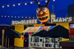 Hamburguesa Simpsons de Krusty Fotografía de archivo