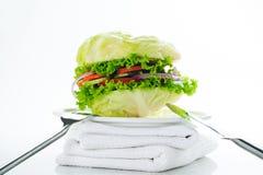Hamburguesa vegetariana imagenes de archivo