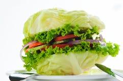 Hamburguesa vegetariana foto de archivo