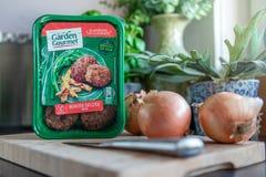 Hamburguesa vegetariana gastrónoma del jardín de lujo foto de archivo