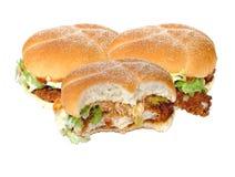 Hamburguesas del pollo Foto de archivo libre de regalías