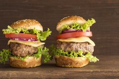 hamburguesas foto de archivo