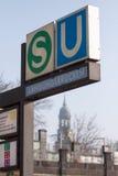 Hamburska stacja metru Zdjęcie Royalty Free