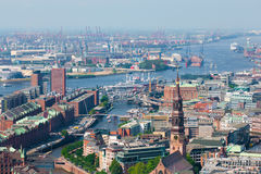 Hamburski port Obrazy Royalty Free
