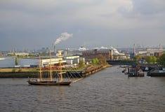 Hamburski port obrazy stock