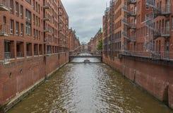 Hamburski Speicherstadt, Unesco światowego dziedzictwa miejsce obrazy stock