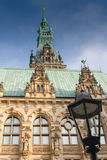 Hamburski urząd miasta Zdjęcia Royalty Free