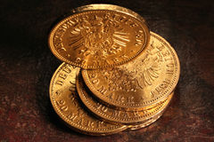 Hamburskie złociste monety Zdjęcia Stock