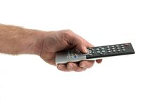 Hamd Held Remote Control Stock Images