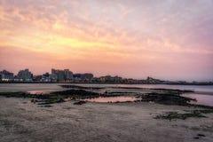 Hamdeok Seoubong beach sunset Royalty Free Stock Image