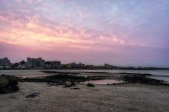 Hamdeok Seoubong beach sunset Stock Images
