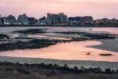 Hamdeok Seoubong beach sunset Stock Photography