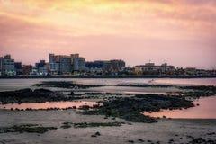 Hamdeok Seoubong beach sunset Royalty Free Stock Photos