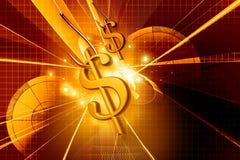Hameçon et signe du dollar Photos stock
