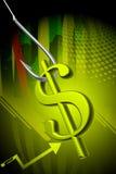 Hameçon et signe du dollar Photo libre de droits