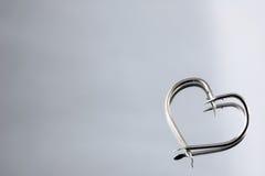 Hameçons de forme de coeur Photo stock