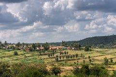 Hameau de Kallahalli Kaval dans Karnataka central, Inde images stock