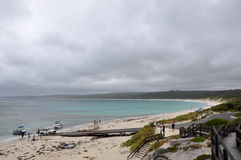 Hamelin Bay: Boating in the Storm stock photo