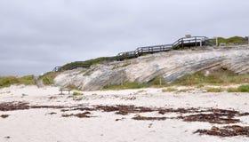 Hamelin Bay: Cliff Boardwalk Stock Images