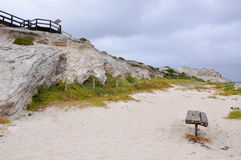 Hamelin Bay: Limestone Cliffs Royalty Free Stock Photo