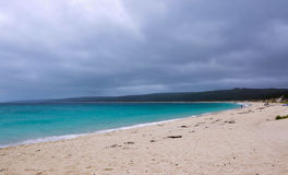 Hamelin Bay: Turquoise Indian Ocean Seascape. Turquoise Indian Ocean seascape at Hamelin Bay in Western Australia under dark stormy skies Stock Photography