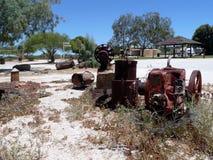Hamelin coloca la estación del telégrafo en Australia occidental Foto de archivo