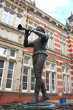 Hamelin - statue pie de joueur de pipeau - I - image stock