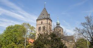 hameln Alemanha da igreja do bonfiatius do st fotos de stock