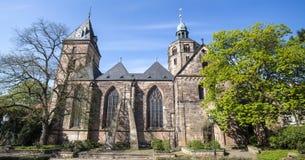 hameln Alemania de la iglesia del bonfiatius del st foto de archivo